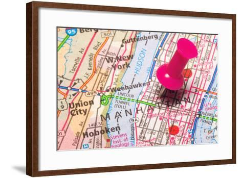 A Push Pin In New York- robeo-Framed Art Print
