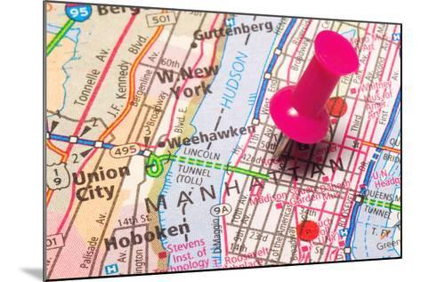 A Push Pin In New York- robeo-Mounted Art Print