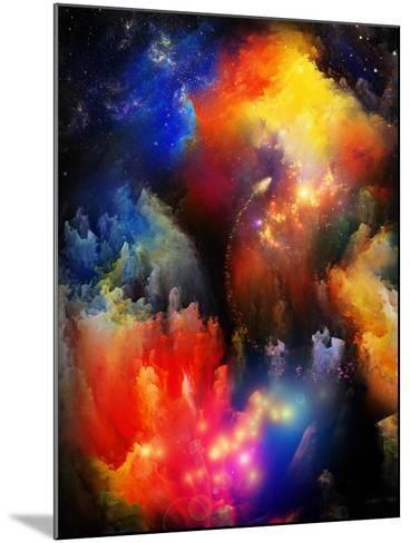 Unfolding Of Fractal Dreams-agsandrew-Mounted Art Print