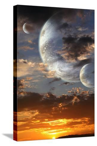 Sunset In Alien Planet-frenta-Stretched Canvas Print