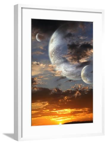 Sunset In Alien Planet-frenta-Framed Art Print