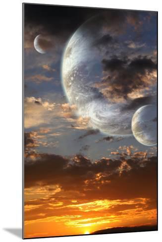 Sunset In Alien Planet-frenta-Mounted Art Print