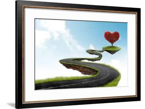 The Road To Heart Tree-jordygraph-Framed Art Print