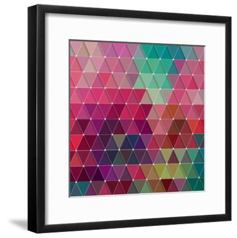 Geometric-Maksim Krasnov-Framed Art Print