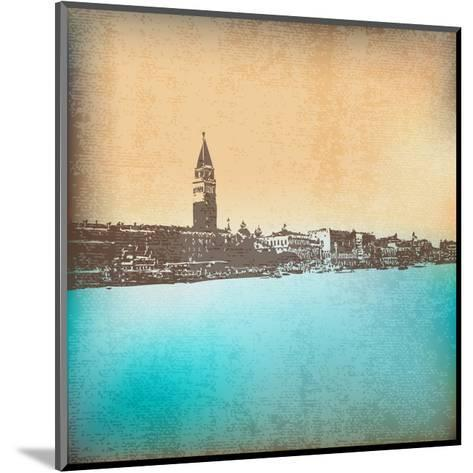 Venetian Vintage Background-Petrafler-Mounted Art Print