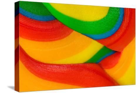 Texture Of Lollipop Macro-Dalibor Sevaljevic-Stretched Canvas Print