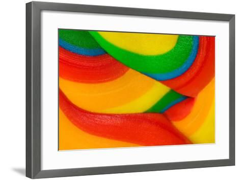 Texture Of Lollipop Macro-Dalibor Sevaljevic-Framed Art Print
