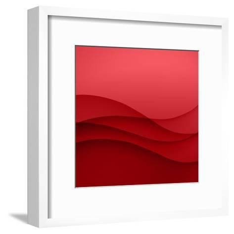 Abstract Red Background-Click Bestsellers-Framed Art Print