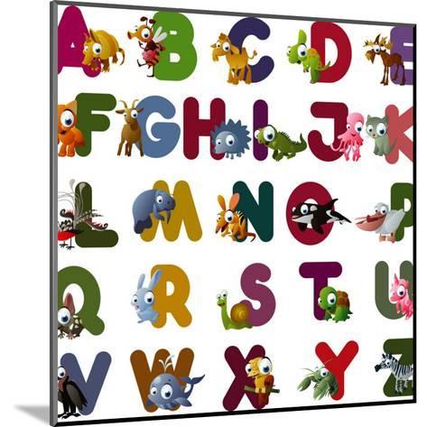 Animal Alphabet-chaikades-Mounted Art Print