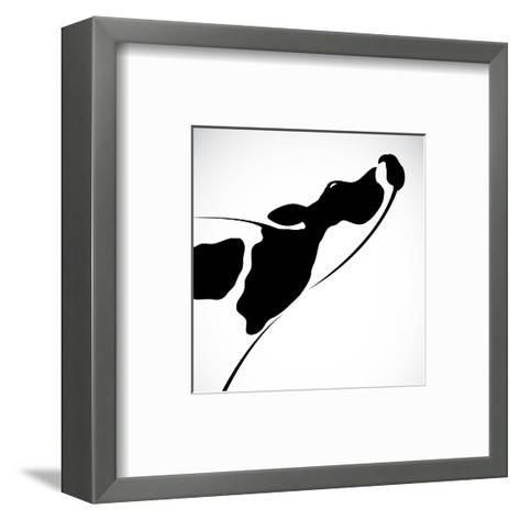 A Cow-yod67-Framed Art Print
