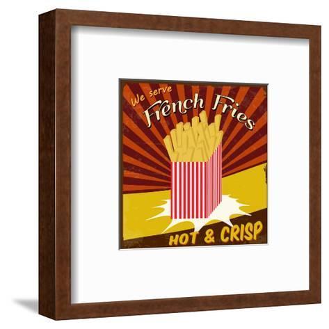 French Fries Vintage Poster-radubalint-Framed Art Print