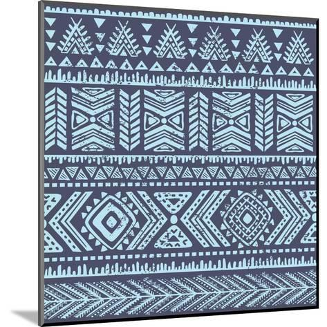 Abstract Tribal Pattern-transiastock-Mounted Art Print