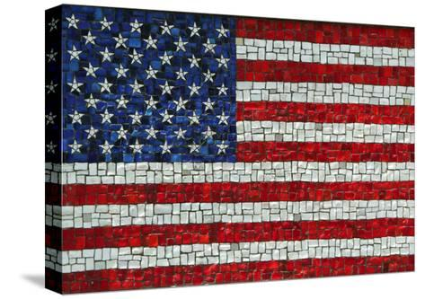 American Flag In Mosaic-Leonard Zhukovsky-Stretched Canvas Print