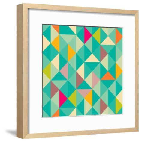 Triangles Seamless Pattern-Heizel-Framed Art Print