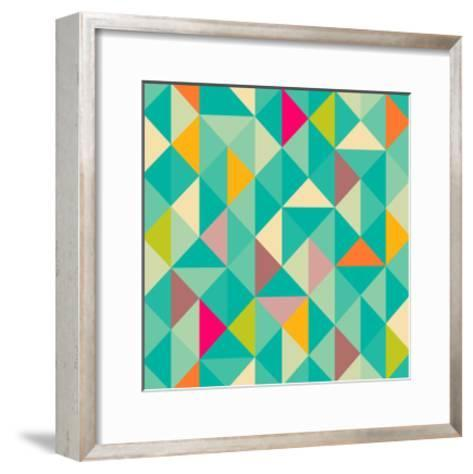 Triangles Seamless Pattern-Heizel-Framed Art Print