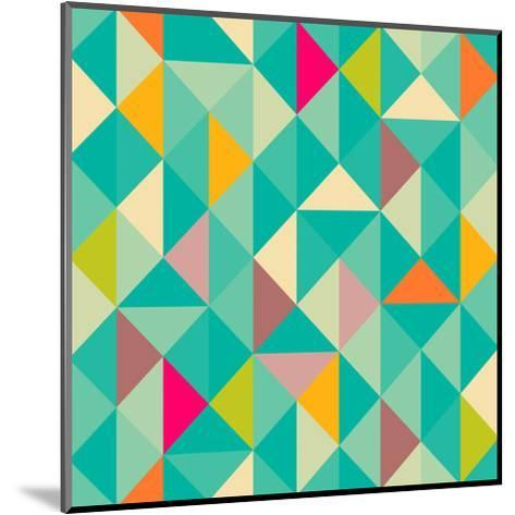 Triangles Seamless Pattern-Heizel-Mounted Art Print