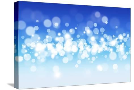 Blue Sky Blurry Lights-alexaldo-Stretched Canvas Print