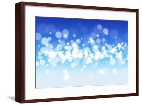 Blue Sky Blurry Lights-alexaldo-Framed Art Print
