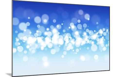 Blue Sky Blurry Lights-alexaldo-Mounted Art Print
