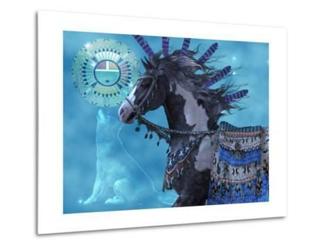 Year Of The Wolf Horse-Corey Ford-Metal Print