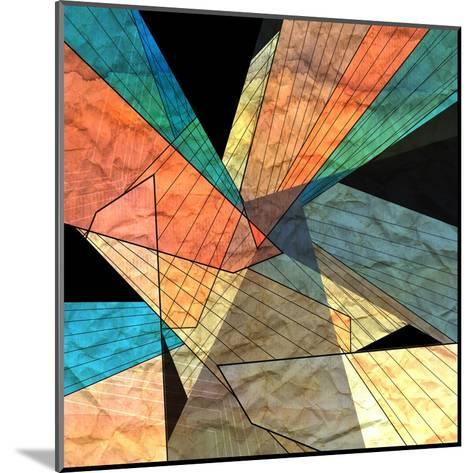 Abstract Geometric Pattern-Tanor-Mounted Art Print