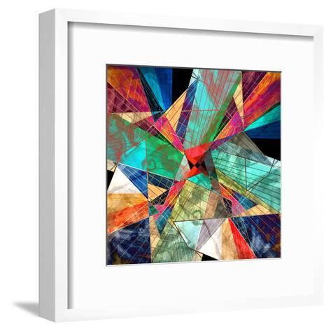 Abstract Geometric Pattern-Tanor-Framed Art Print