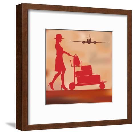 Vintage Travel Background-Petrafler-Framed Art Print