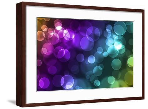 Abstract Glowing Circles-suti-Framed Art Print