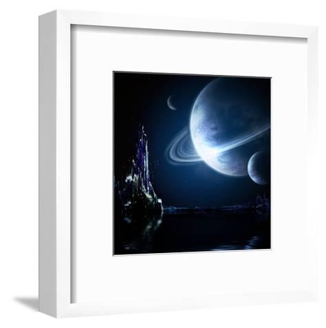 Landscape In Fantasy Planet-frenta-Framed Art Print