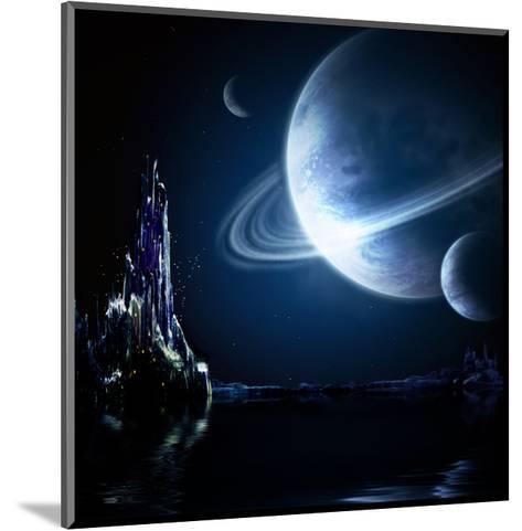 Landscape In Fantasy Planet-frenta-Mounted Art Print