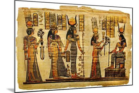Ancient Egyptian Parchment-Maugli-l-Mounted Art Print