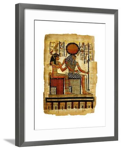 Ancient Egyptian Parchment-Maugli-l-Framed Art Print