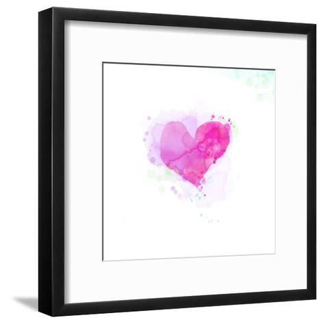 Painted Watercolor Heart-lozas-Framed Art Print