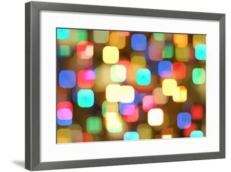 Abstract Colourful Lights- greatpapa-Framed Art Print