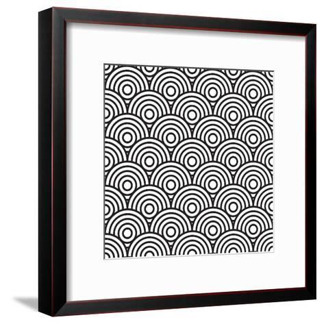 Concentric Circles- j0hnb0y-Framed Art Print