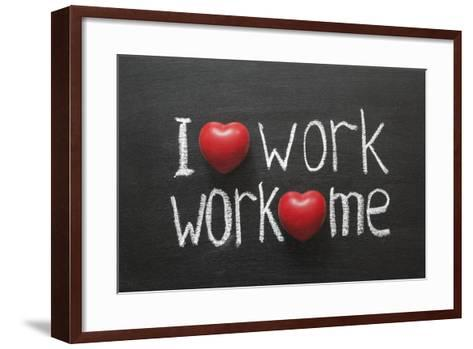 Love Work Mutually-Yury Zap-Framed Art Print