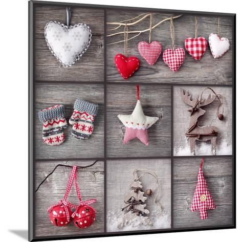 Christmas Collage-egal-Mounted Art Print