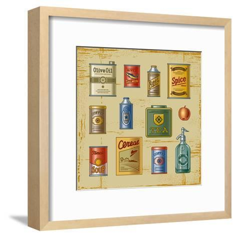 Retro Grocery Set-Oleg Iatsun-Framed Art Print