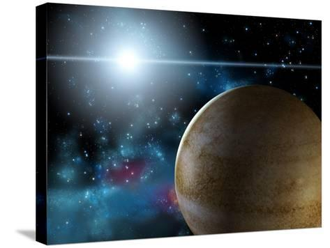 Planet And Star-Thufir-Stretched Canvas Print
