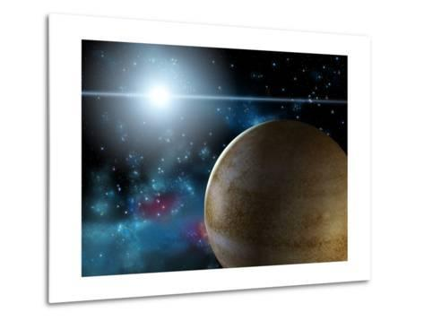 Planet And Star-Thufir-Metal Print