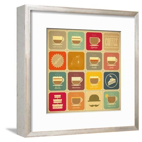 Coffee Labels-elfivetrov-Framed Art Print