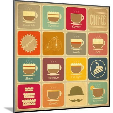 Coffee Labels-elfivetrov-Mounted Art Print