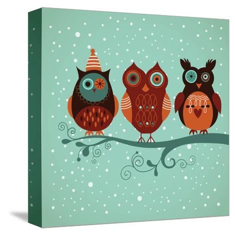 Winter Owls-lenlis-Stretched Canvas Print