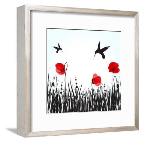 Hummingbirds-mcherevan-Framed Art Print