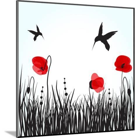Hummingbirds-mcherevan-Mounted Art Print