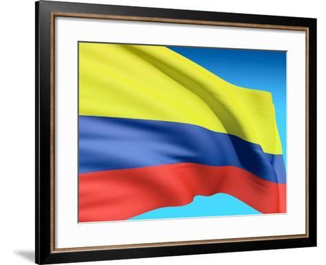 Flag Of Colombia-bioraven-Framed Art Print