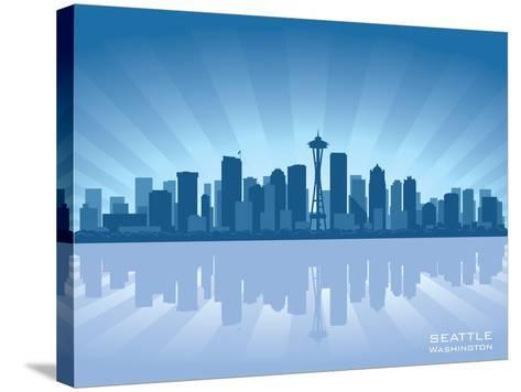 Seattle Skyline-Yurkaimmortal-Stretched Canvas Print