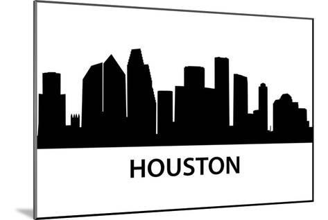 Skyline Houston-unkreatives-Mounted Art Print