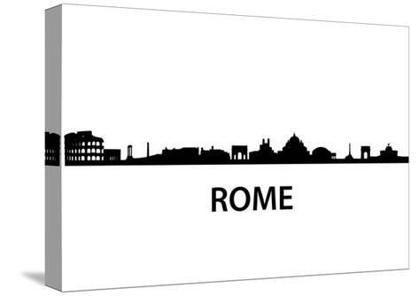 Skyline Of Rome-unkreatives-Stretched Canvas Print