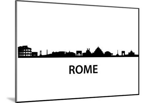 Skyline Of Rome-unkreatives-Mounted Art Print